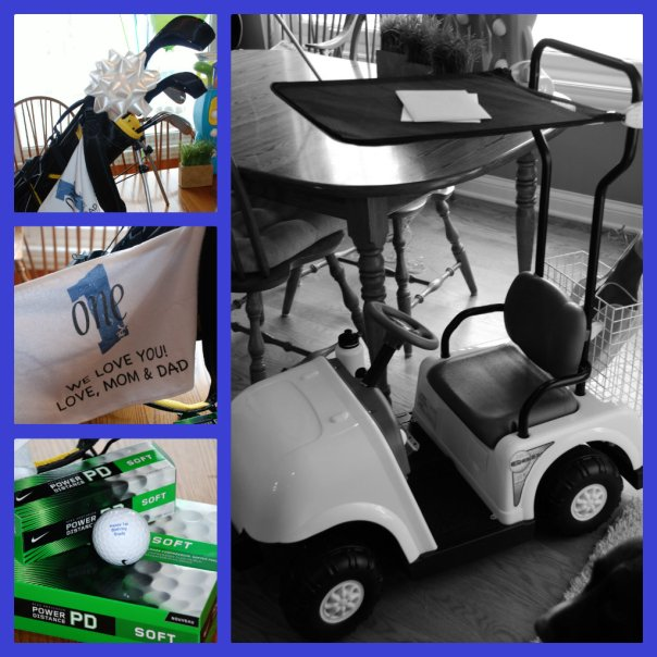 Golf party birthday gifts